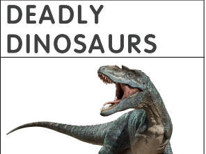 Dinosaur Information Text for KS1 with Contents, Index, Glossary and Comprehension Questions.