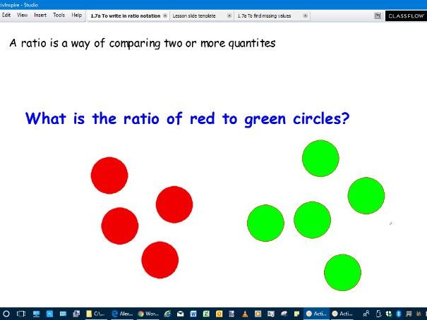 Lesson slides-Writing a ratio and simplifying