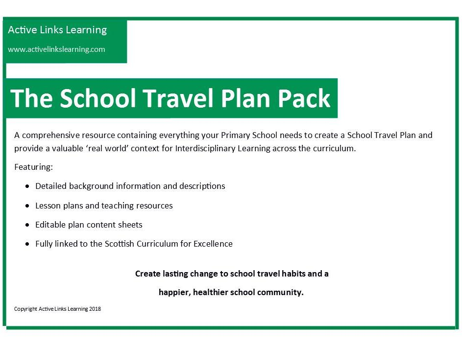 The School Travel Plan Pack - Information and how to use the pack