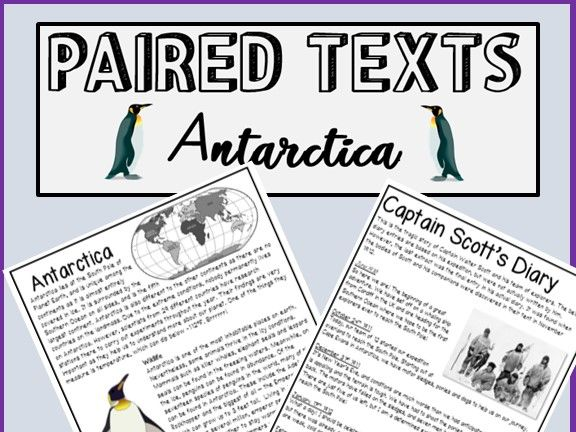 Paired Texts - Antarctica - Literal, Inference, Meaning and Summary questions