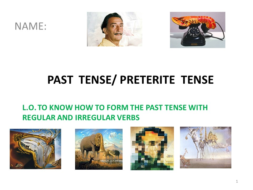 Preterite Tense in Spanish regular & irregular verbs
