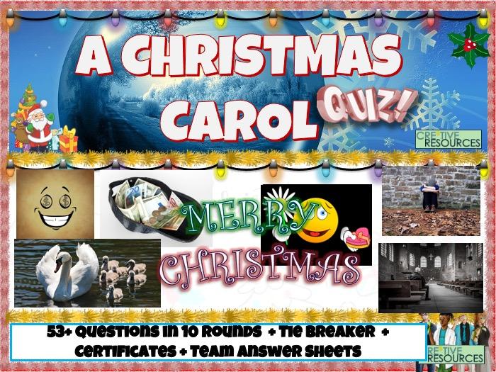A Christmas Carol KS3 Quiz