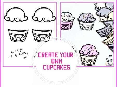 Colour and Create Your Own Cupcake