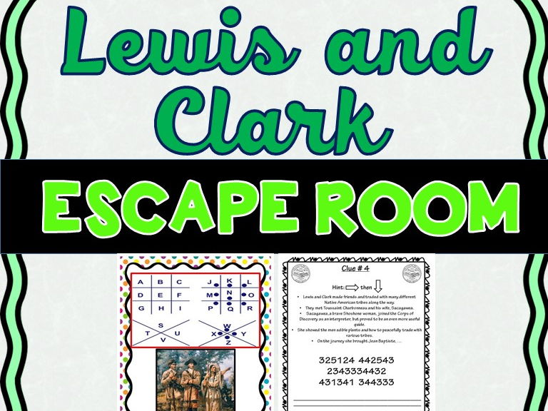 Lewis and Clark Escape Room- No Prep!