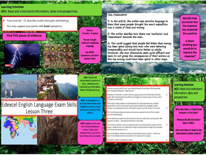 Edexcel IGCSE English Language Exam Skills