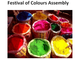 Holi Hindu Spring Festival of Colours Assembly
