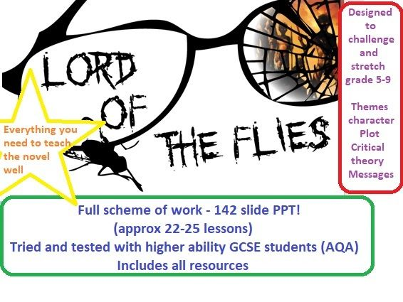 Lord of the Flies high ability full scheme of work - 142 slide PPT PLUS resources