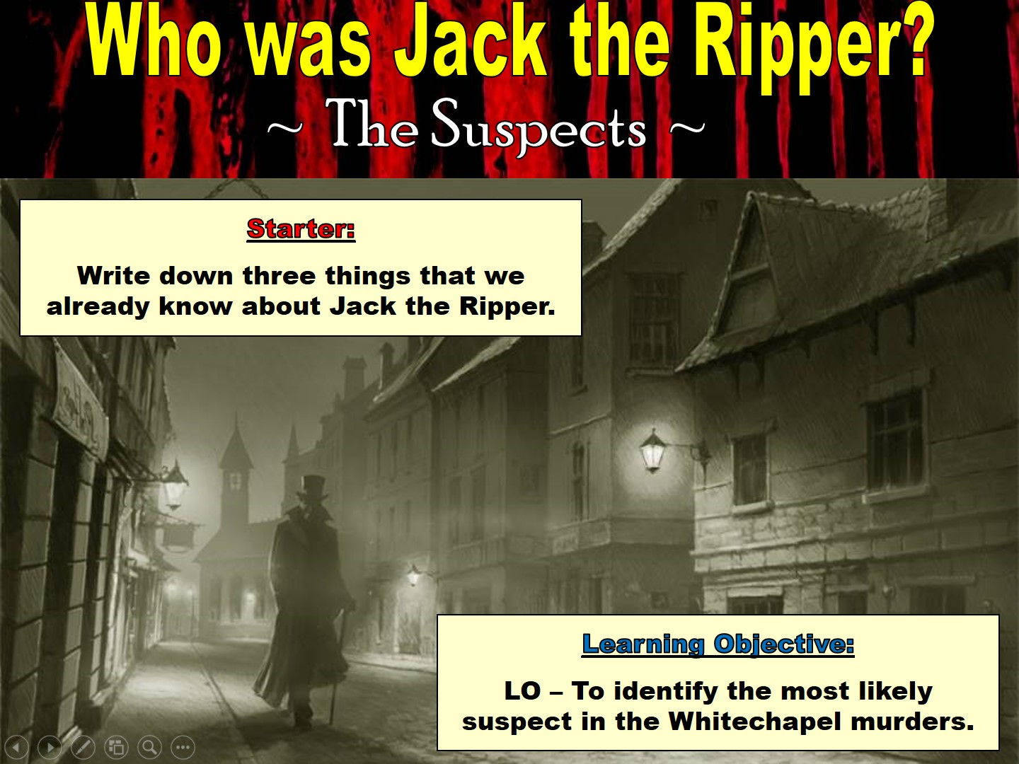 Jack the Ripper - Scheme of work