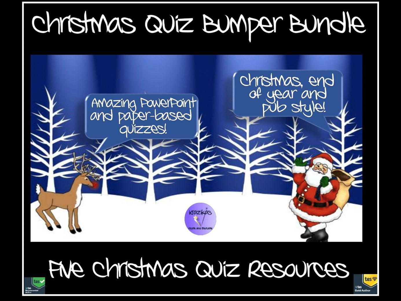 Christmas Quiz Bumper Bundle - Five Quizzes, PowerPoint and paper-based - Just £5