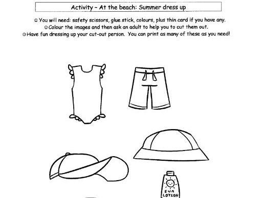 French: Summer At the Beach-Clothing Dress Up