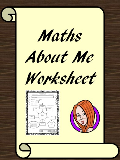 'Maths About Me' Worksheet