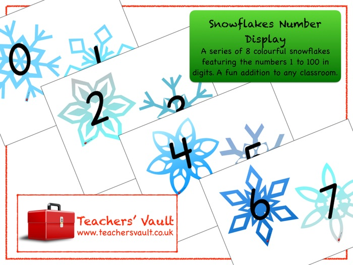 Snowflakes Number Display