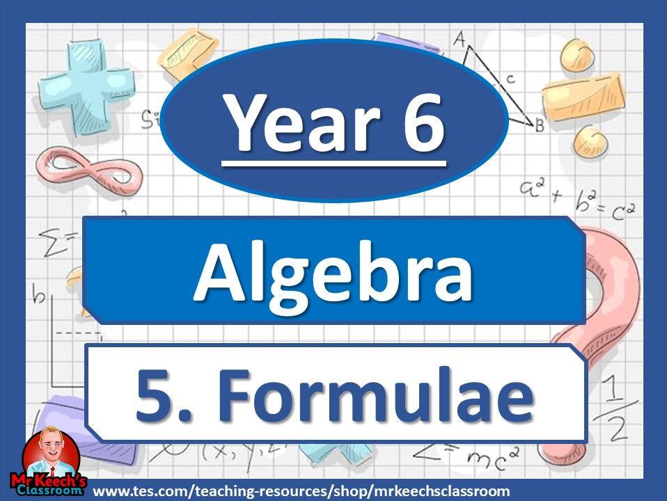 Year 6 - Algebra - Formulae - White Rose Maths