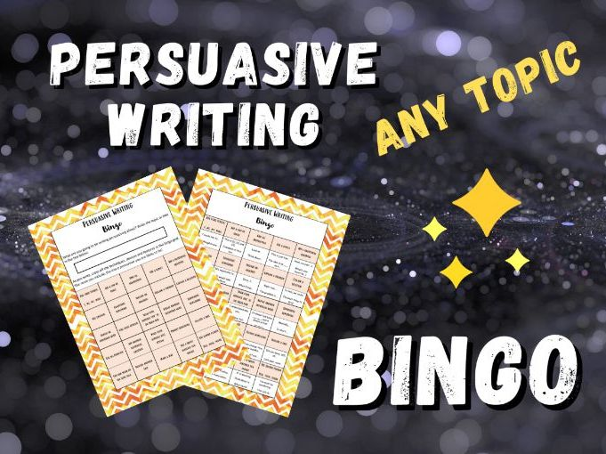 Primary Persuasive Writing Bingo | Any Topic | Differentiated Layouts