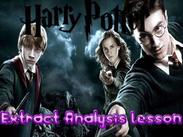 Harry Potter Extract Analysis Lesson + Literacy
