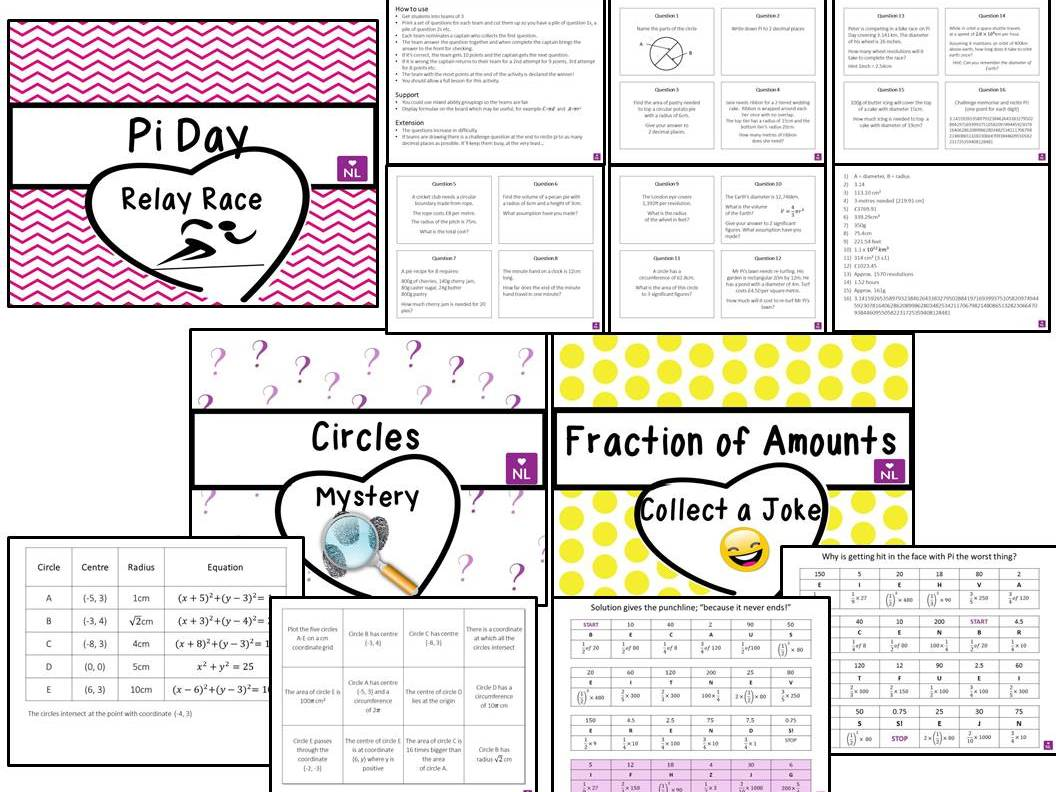Pie charts worksheet by richspear teaching resources tes bundle pi day nvjuhfo Images