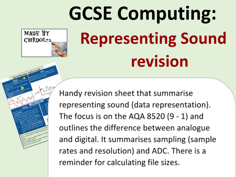 GCSE Computing Revision: Representing Sound