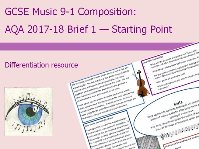 Music GCSE 9-1 Compostion: 2017-2018 Brief 1 Starting Point