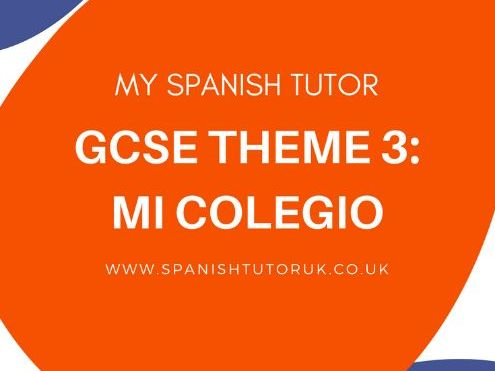 Unit of Work GCSE Mi Colegio