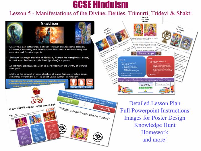 GCSE Hinduism - Lesson 5/20 [Manifestations of the divine, deities, trimurti, tridevi, shakti]