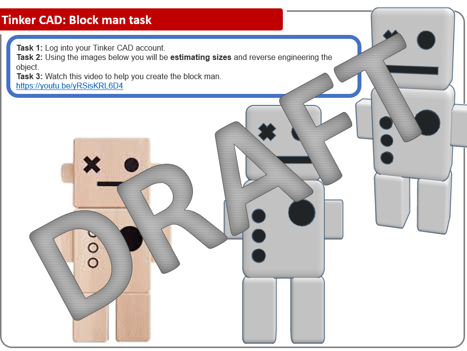 How to draw a Block person in TinkerCAD