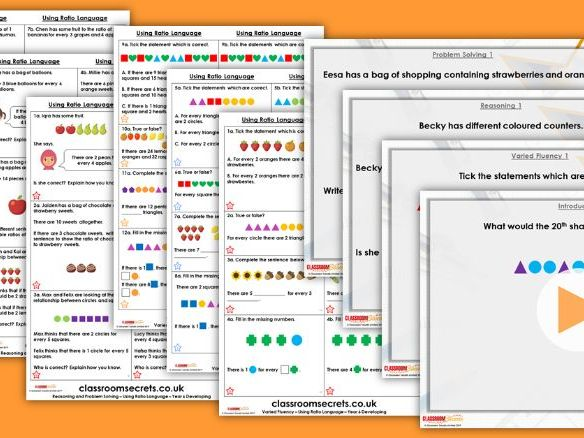 FREE Year 6 Using Ratio Language Spring Block 6 Step 1 Maths Lesson Pack