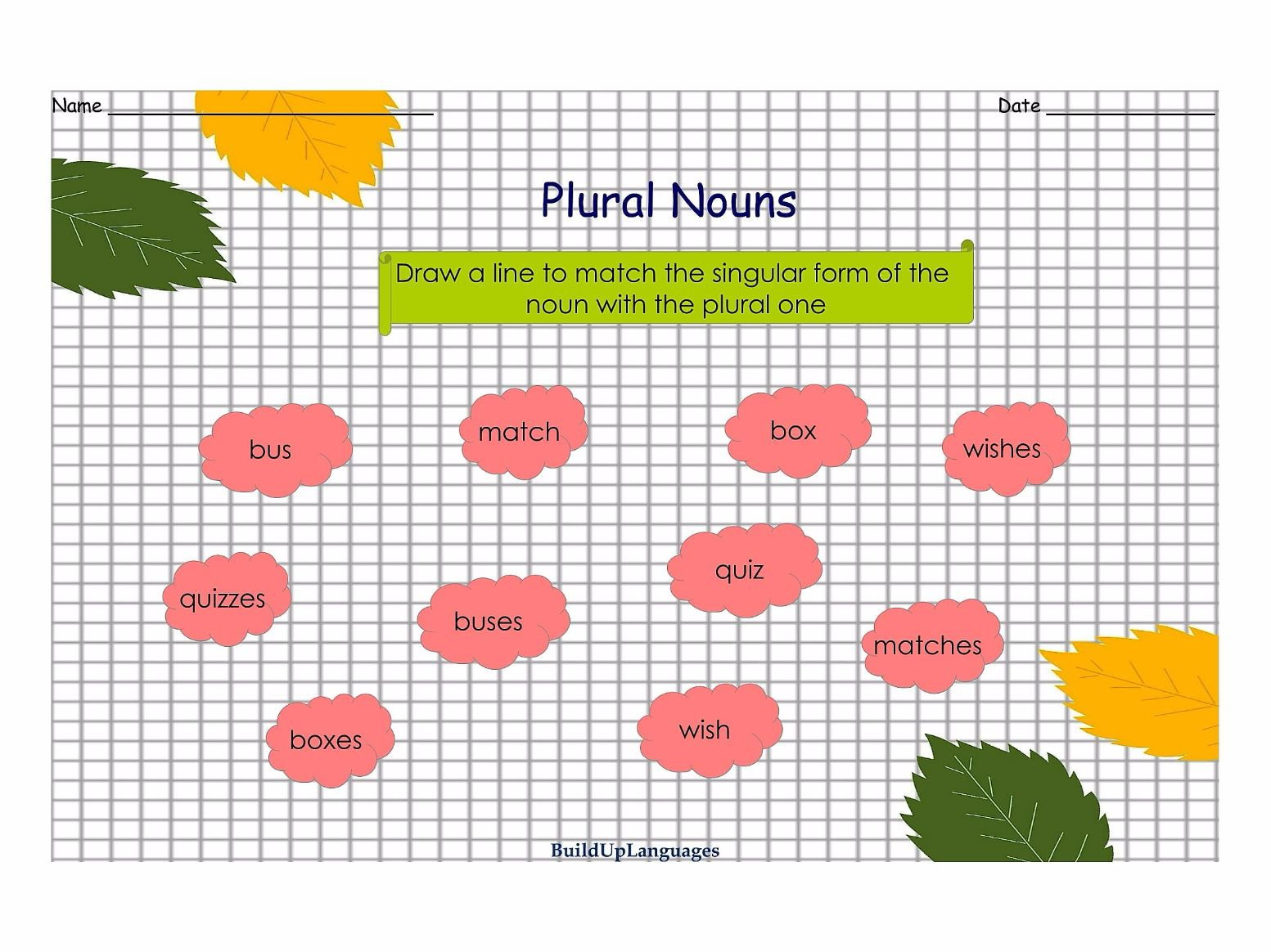 Plural Nouns Practice 1, worksheets and games