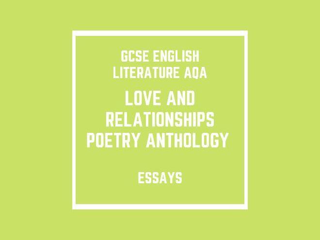 GCSE English Literature AQA:  Poetry Anthology (essays)