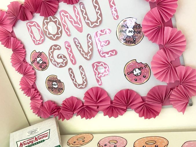 Growth Mindset display: Doughnut theme