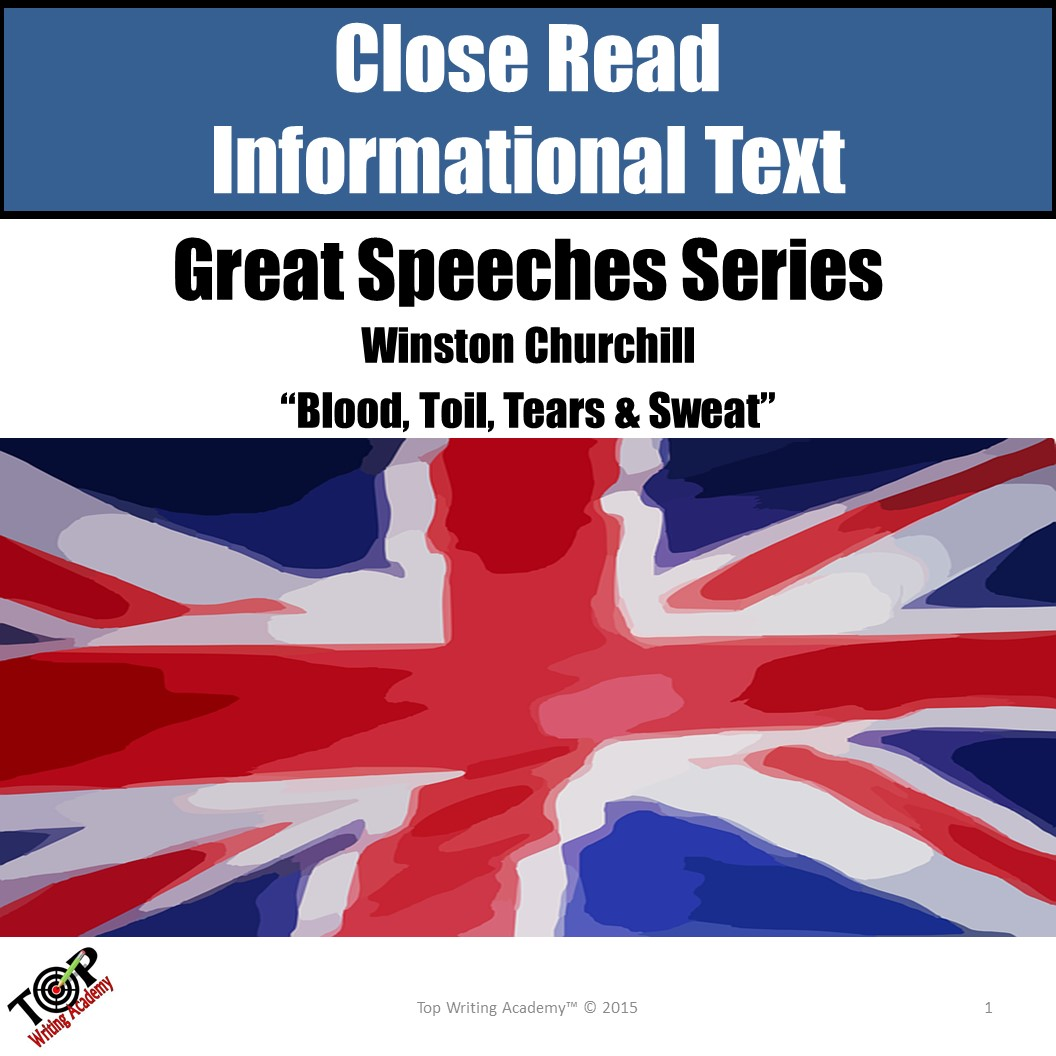 "Close Reading Nonfiction ""Great Speeches"" Winston Churchill"