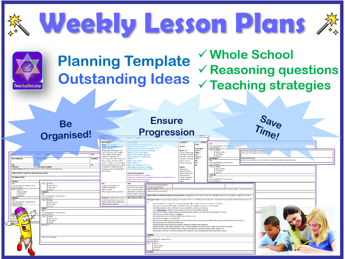 Weekly Planning Template By Teachallenjoy Teaching Resources Tes