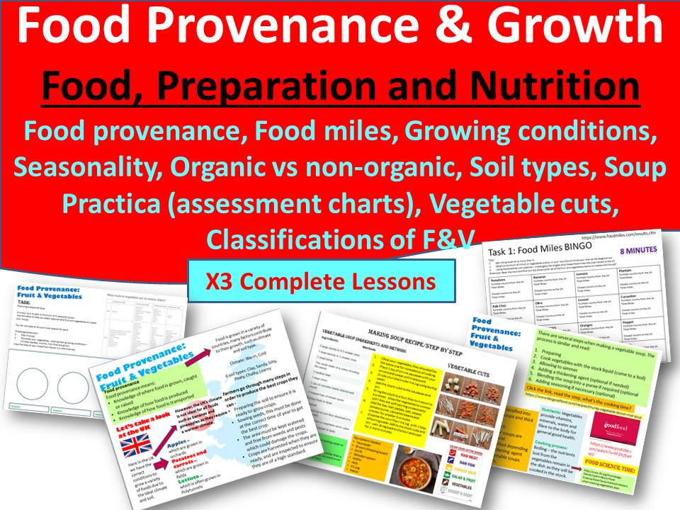 Food Provenance and Growth