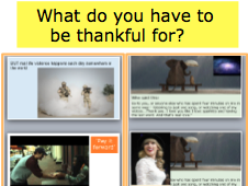 Assembly: What do you have to be thankful for? Kidness and gratefullness