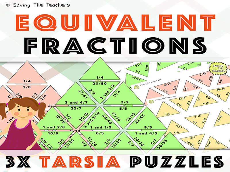Equivalent Fractions Tarsia Puzzles