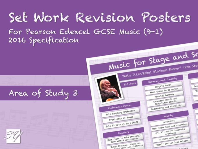 Set Work Revision Posters for Pearson Edexcel GCSE Music (2016 Specification) - Area of Study 3