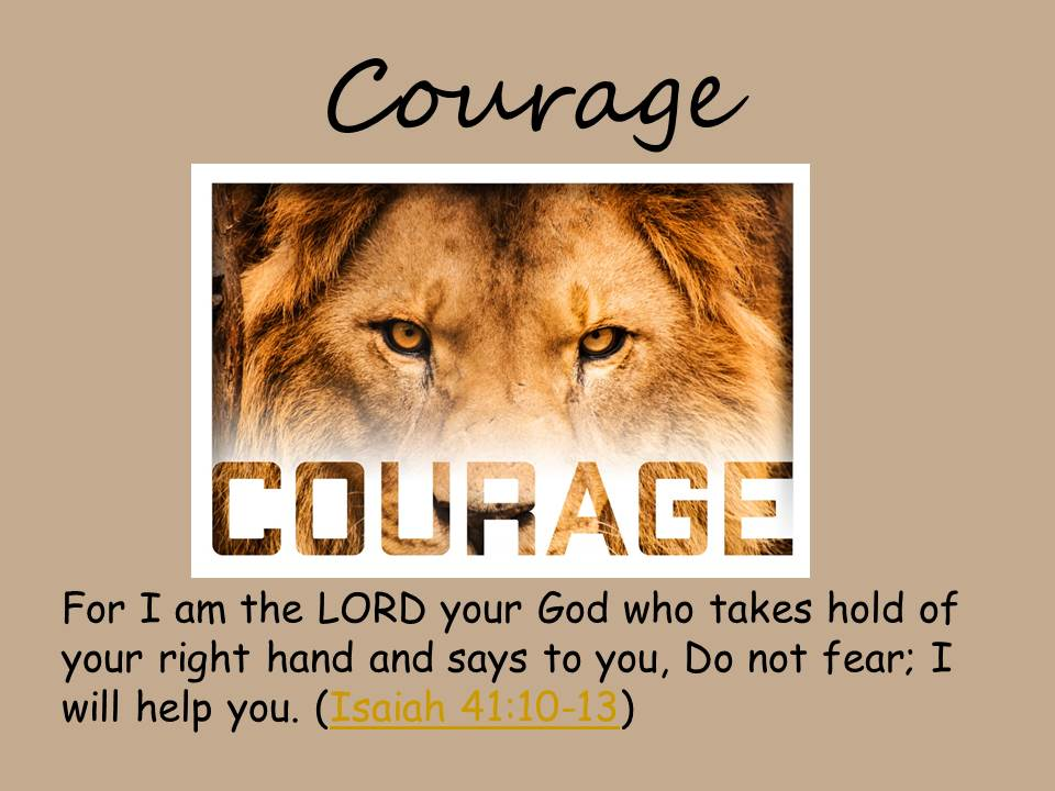 Courage - Collective Worship