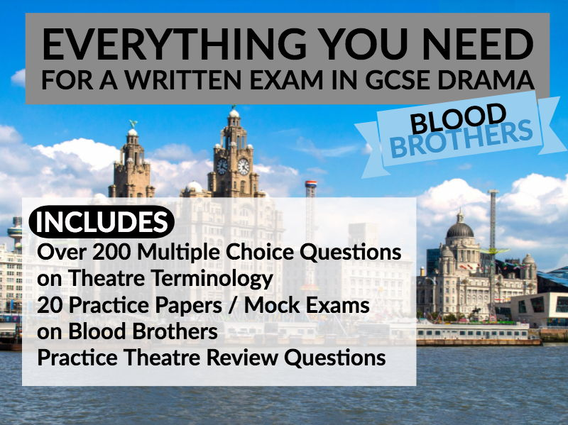 Blood Brothers Drama Written Exam Bundle