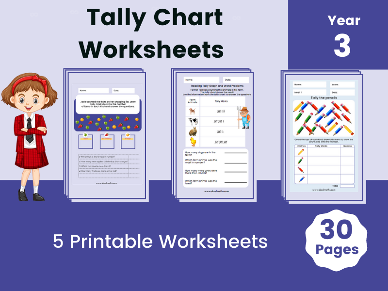 Tally Charts Digital Activities with Printable Worksheets