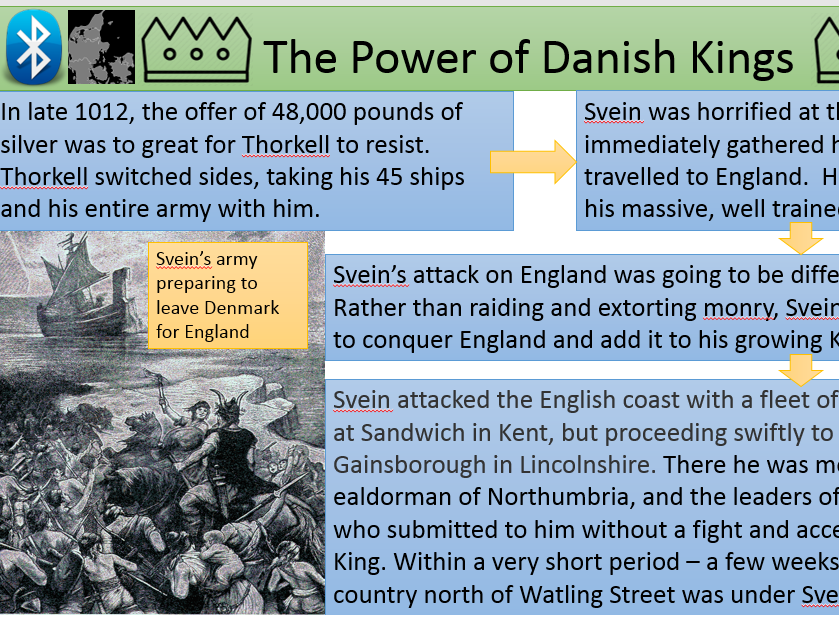 Power of the Danish Kings 958 - 1013 - Harald Bluetooth and Svein Forkbeard - OCR SHP B
