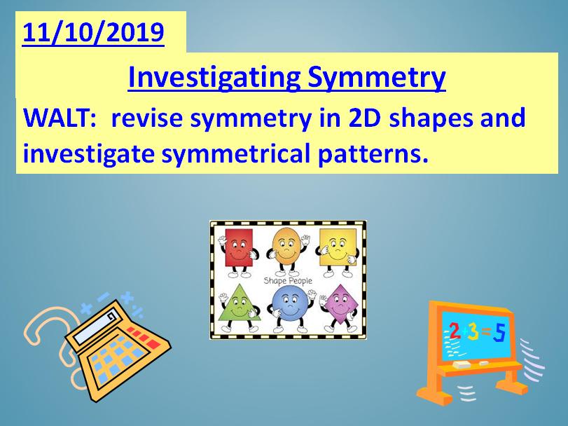 Maths ~ Term 1 Unit 4 ~ Shape, Symmetry, Area & Perimeter