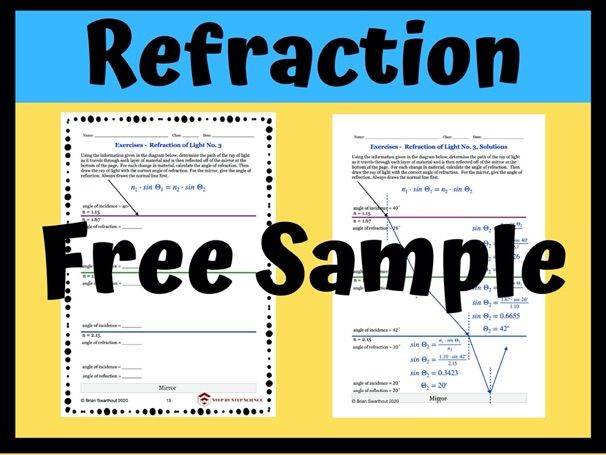 Free Sample: Refraction & Snell's Law