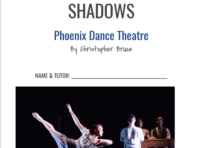 GCSE Dance Shadows Booklet NEW
