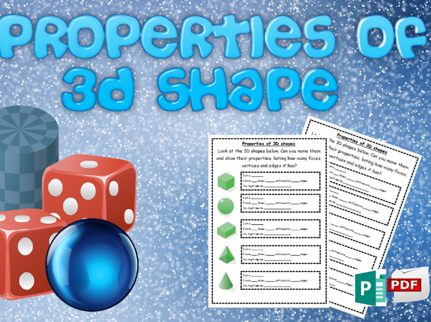 Properties of 3D shapes activity
