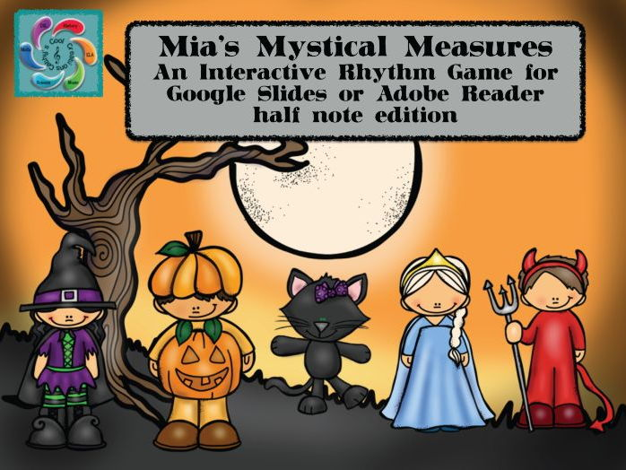 Google Slides Game-Interactive Rhythm Mia's Mystical Measures-Half notes
