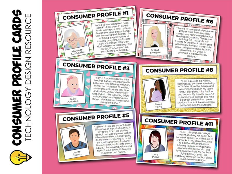 Technology : Consumer Profile Cards (activity)