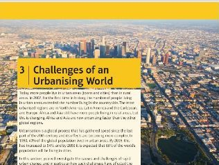 GCSE Geography - Edexcel B - Challenges of an Urbanising World
