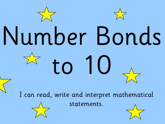 Number Bonds to 10 Powerpoint