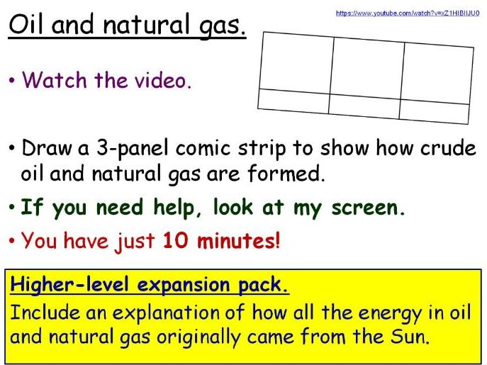 Fuels (Fossil Fuels) Year 7 Lesson PowerPoint (KS3 7Ic) Energy topic