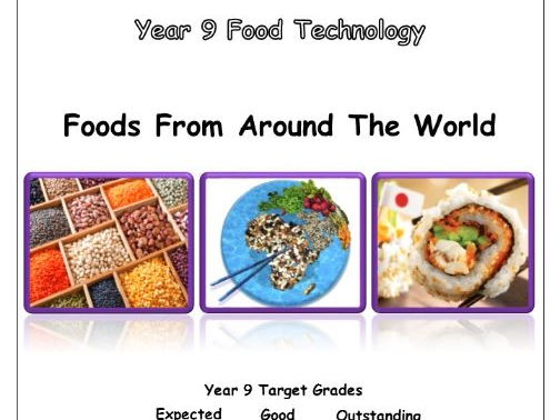 Year 9 Food Booklet - Foods from around the world