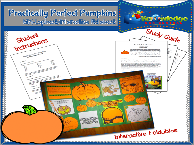 Practically Perfect Pumpkins Mini-Lapbook